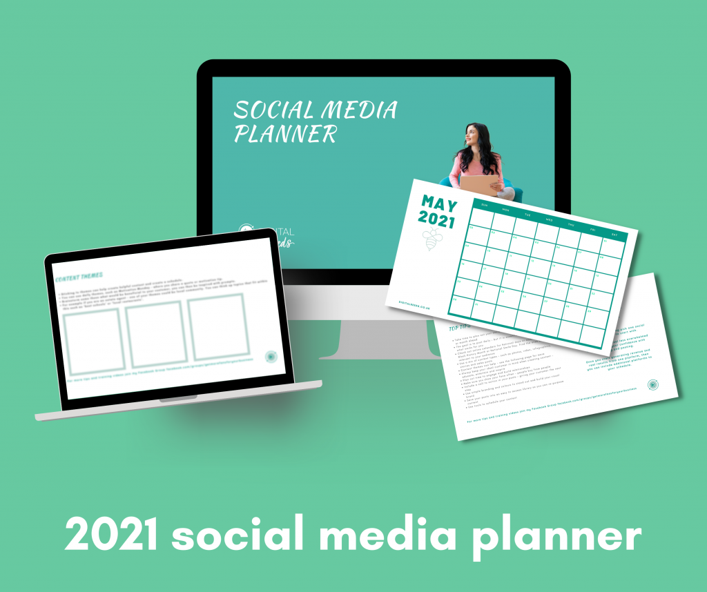 social media planner showing pages